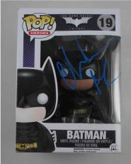 Christian Bale Batman The Dark Knight Autographed Signed Funko Pop Doll JSA COA
