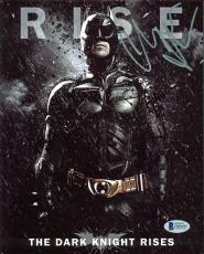 Christian Bale Batman The Dark Knight Rises Signed 8x10 Photo BAS #D05695