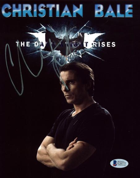 Christian Bale Batman The Dark Knight Rises Signed 8x10 Photo BAS #E20777