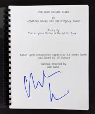 Christian Bale Batman The Dark Knight Rises Signed Movie Script BAS #B71600