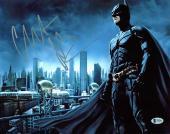 Christian Bale Batman The Dark Knight Signed 11x14 Photo BAS 2