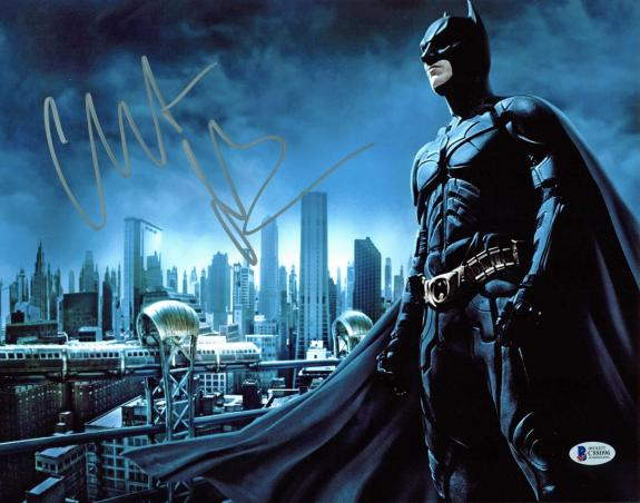 Christian Bale Batman The Dark Knight Signed 11x14 Photo BAS 2
