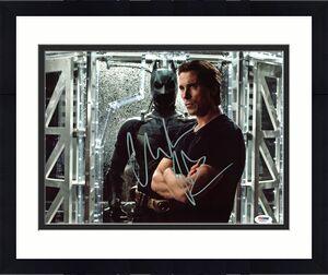 Christian Bale Batman The Dark Knight Signed 11x14 Photo BAS 3