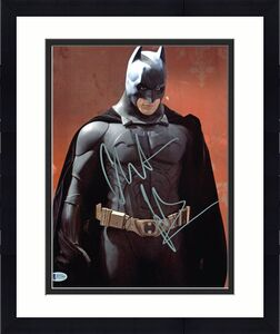 Christian Bale Batman The Dark Knight Signed 11x14 Photo BAS #D71968