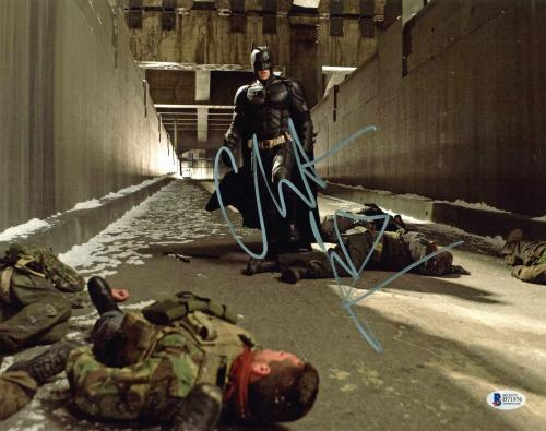 Christian Bale Batman The Dark Knight Signed 11x14 Photo BAS #D71976