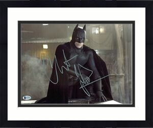 Christian Bale Batman The Dark Knight Signed 11x14 Photo BAS #D71978