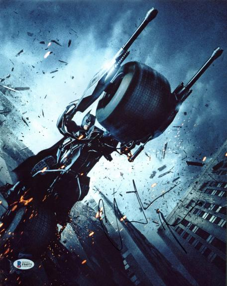 Christian Bale Batman The Dark Knight Signed 11x14 Photo BAS #F84573