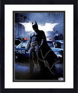 Christian Bale Batman The Dark Knight Signed 11x14 Photo BAS #H13102