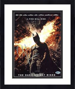 Christian Bale Batman The Dark Knight Signed 11x14 Photo BAS #H14372