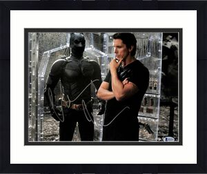 Christian Bale Batman The Dark Knight Signed 11x14 Photo BAS #H14375