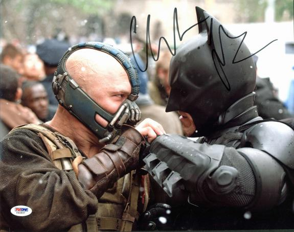 Christian Bale Batman The Dark Knight Signed 11x14 Photo PSA #Y44937