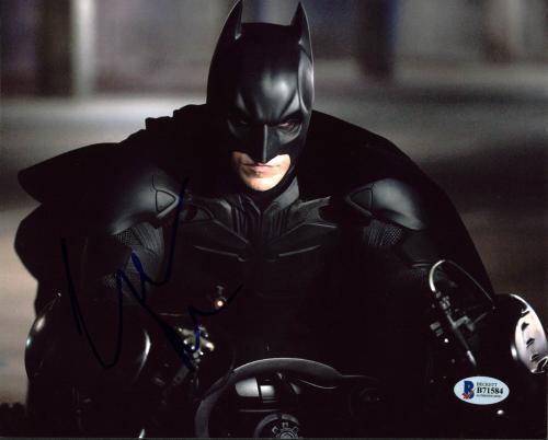 Christian Bale Batman The Dark Knight Signed 8X10 Photo BAS #B71584