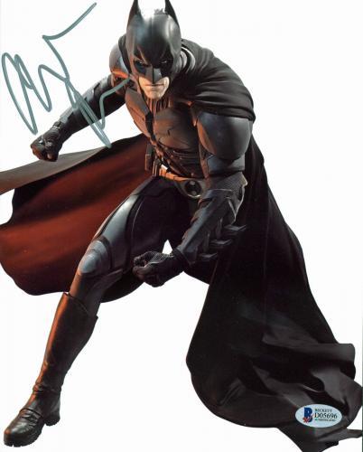 Christian Bale Batman The Dark Knight Signed 8x10 Photo BAS #D05696
