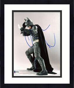 Christian Bale Batman The Dark Knight Signed 8x10 Photo BAS #D05698