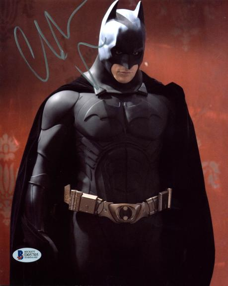 Christian Bale Batman The Dark Knight Signed 8x10 Photo BAS #D05705