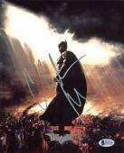 Christian Bale Batman The Dark Knight Signed 8x10 Photo BAS #D05706