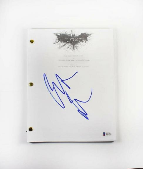 Christian Bale Dark Knight Autographed Signed Script Authentic BAS COA AFTAL