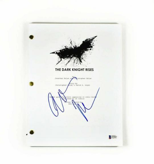 Christian Bale Dark Knight Autographed Signed Script Authentic BAS COA AFTAL