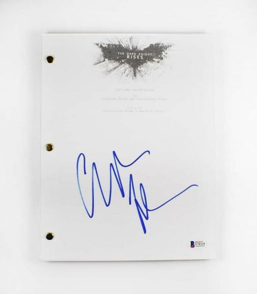 Christian Bale Dark Knight Autographed Signed Script Certified BAS COA AFTAL
