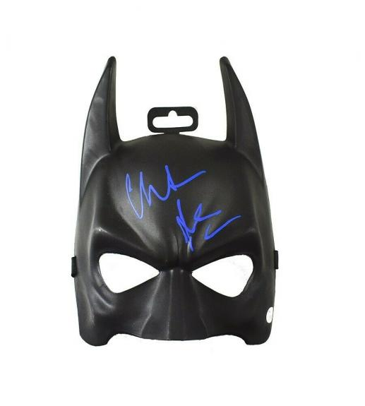 Christian Bale Dark Knight Batman Mask Autographed Signed Authentic JSA COA