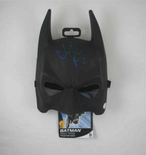 Christian Bale Dark Knight Batman Mask Autographed Signed Certified JSA COA