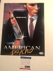 Christian Bale Hand Signed 11x14 Photo American Psycho Batman PSA DNA Cert