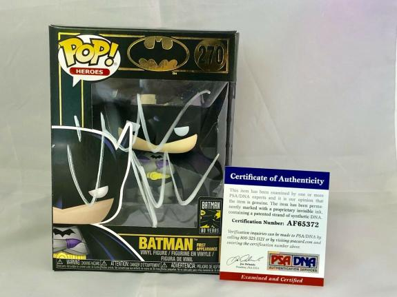 Christian Bale Hand Signed Auto Batman Gold Funko Pop 270 Dark Knight Psa Dna #4