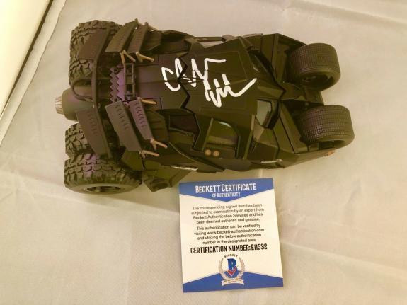 Christian Bale Hand Signed Batmobile 1:24 The Dark Knight Beckett BAS Cert