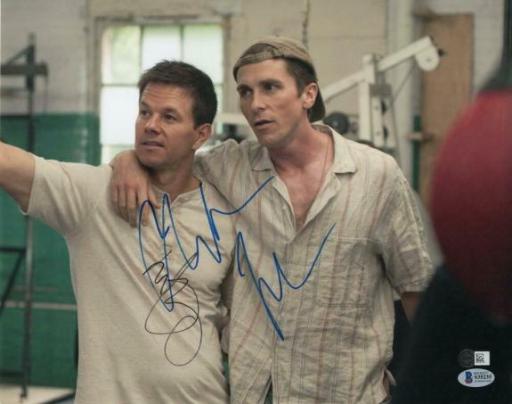 CHRISTIAN BALE & MARK WAHLBERG SIGNED AUTOGRAPH 11x14 PHOTO - THE FIGHTER BATMAN
