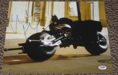 Christian Bale Signed 11x14 Photo Autograph The Dark Knight Rises Batman Psa B