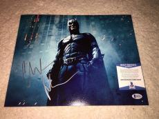 Christian Bale Signed 11x14 Photo Batman Begins, The Dark Knight Beckett #3