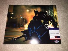 Christian Bale Signed 11x14 Photo Batman Begins, The Dark Knight PSA/DNA #3