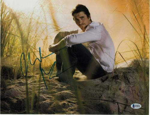 Christian Bale Signed 11x14 Photo Batman Dark Knight Beckett Bas Autograph E