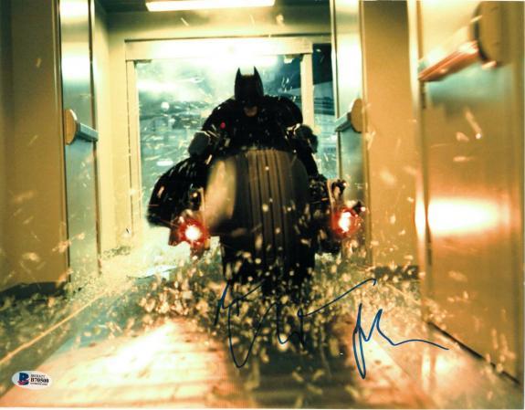 Christian Bale Signed 11x14 Photo Batman Dark Knight Beckett Bas Autograph G