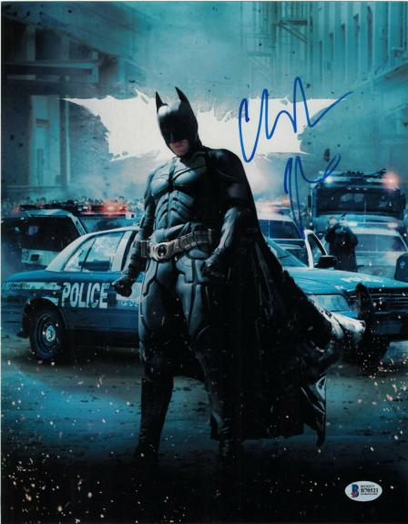 Christian Bale Signed 11x14 Photo Batman Dark Knight Beckett Bas Autograph M