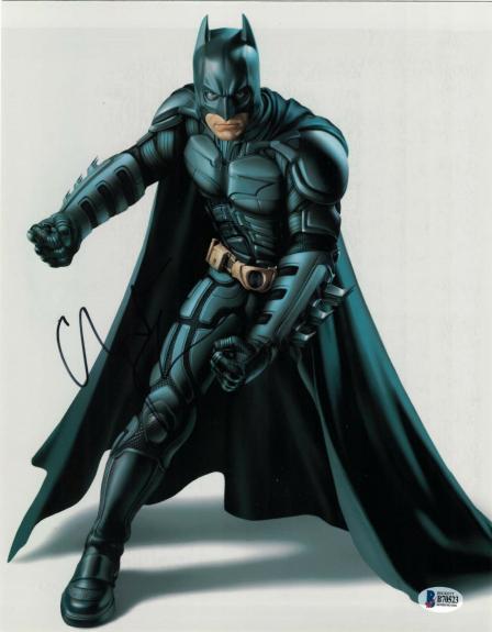 Christian Bale Signed 11x14 Photo Batman Dark Knight Beckett Bas Autograph P