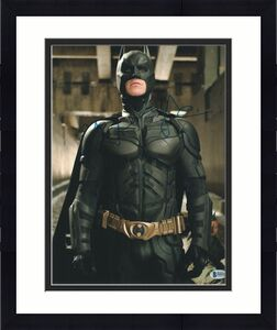Christian Bale Signed 11x14 Photo Batman Dark Knight Beckett Bas Autograph S