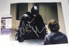 CHRISTIAN BALE signed 11X14 Photo BATMAN Dark Knight Interrogation Joker JSA