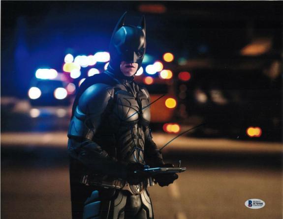 Christian Bale Signed 11x14 Photo Dark Knight Batman Beckett Bas Autograph A
