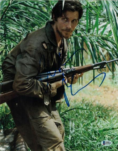 Christian Bale Signed 11x14 Photo Rescue Dawn Batman Beckett Bas Autograph Q