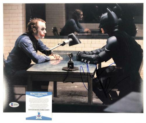 Christian Bale signed 11x14 Photo The Dark Knight Autograph (A)~ Beckett BAS COA