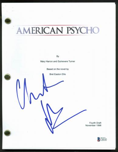Christian Bale  Signed American Psycho Movie Script BAS #C44183