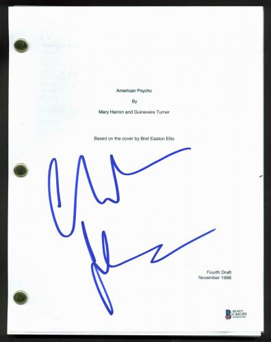 Christian Bale  Signed American Psycho Movie Script BAS #C44189