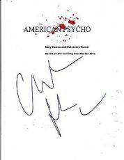 Christian Bale Signed American Psycho Script Full 94 Page Script Autograph Proof