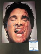 Christian Bale Signed Auto 11x14 American Psycho Photo Bas Beckett Coa 35