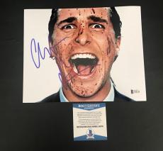 Christian Bale Signed Auto American Psycho 8x10 Photo Bas Beckett Coa  21