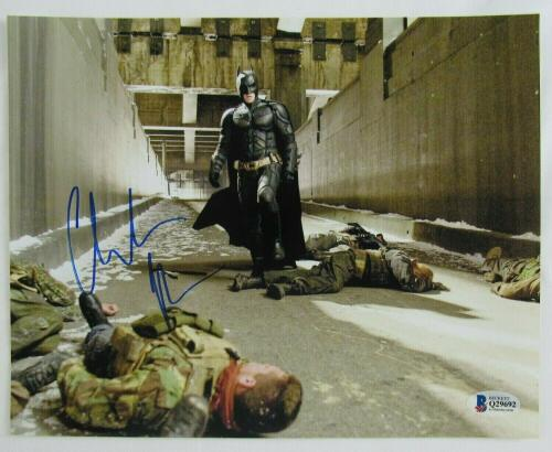 Christian Bale Signed Auto Autograph 8x10 Batman Dark Knight Photo BAS Beckett Q