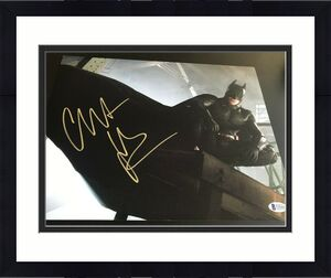 CHRISTIAN BALE SIGNED AUTOGRAPH 11x14 PHOTO BATMAN DARK KNIGHT BECKETT BAS COA L