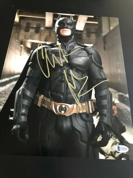 CHRISTIAN BALE SIGNED AUTOGRAPH 11x14 PHOTO BATMAN DARK KNIGHT BECKETT BAS COA M