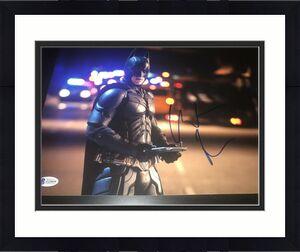 CHRISTIAN BALE SIGNED AUTOGRAPH 11x14 PHOTO DARK KNIGHT BATMAN BECKETT BAS X4